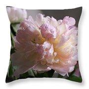 Blushing Peony Throw Pillow