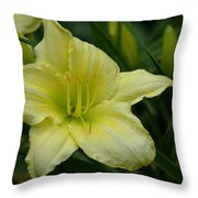 Blushing Yellow - Lilies Throw Pillow