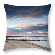 Blyth Harbour At Sunset Throw Pillow