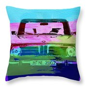 Bmw 2002 Front Watercolor 1 Throw Pillow