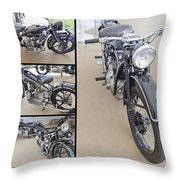 Bmw Art Deco Bikes Throw Pillow