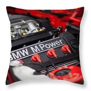 Bmw M Power Throw Pillow