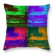 Bmw Racing Pop Art 1 Throw Pillow by Naxart Studio