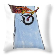 Bmx Drawing Throw Pillow