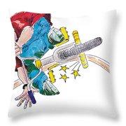 Bmx Drawing Peg Grind Throw Pillow