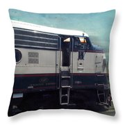 Bn F9 Train Engine Textured Throw Pillow