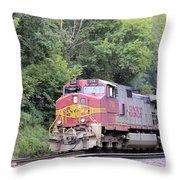 Bnsf Train Throw Pillow