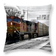 Bnsf Train Throw Pillow
