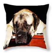 Mastiff Art By Sharon Cummings Throw Pillow