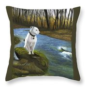 Bo At The Patapsco Throw Pillow