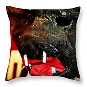 Boar Mask Throw Pillow