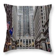 Board Of Trade Throw Pillow