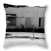 Boarded Up - Black And White Throw Pillow