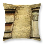 Boarded Windows 2 Throw Pillow