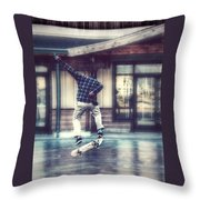 Boarder Bliss Throw Pillow