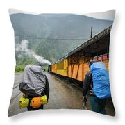 Boarding The Durango Silverton Narrow Throw Pillow