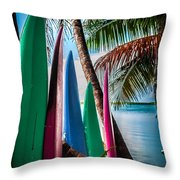 Boards Of Surf Throw Pillow