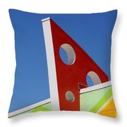 Boardwalk Architecture Throw Pillow