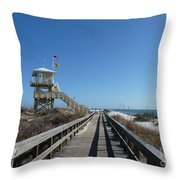 Boardwalk At Ponce Throw Pillow