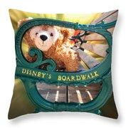 Boardwalk Bear Throw Pillow