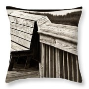 Boardwalk Bench Throw Pillow