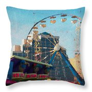 Boardwalk Ferris  Throw Pillow