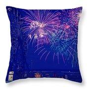 Boardwalk Fireworks Throw Pillow