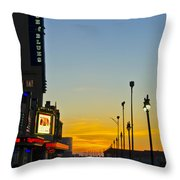 Boardwalk House Of Blues At Sunrise Throw Pillow