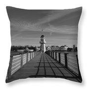 Boardwalk Lighthouse 1 Throw Pillow