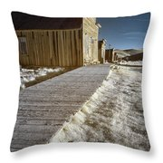 Frost On The Boardwalk Throw Pillow
