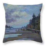Boardwalk On Vashon Island Throw Pillow