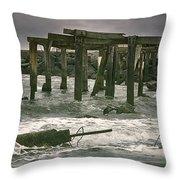 Boardwalk Remnants Throw Pillow