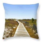 Boardwalk Throw Pillow by Susan Leggett