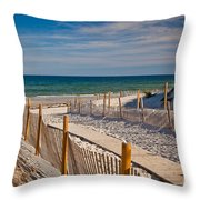 Boardwalk To Cape Cod Bay Throw Pillow