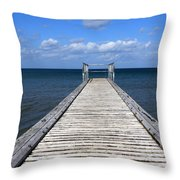 Boardwalk To The Ocean Throw Pillow