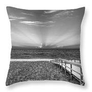 Boardwalk To The Sea Throw Pillow
