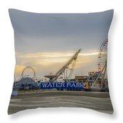 Boardwalk Waterpark Wildwood New Jersey Throw Pillow