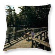 Boardwalking Throw Pillow