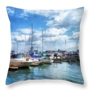Boat - Boat Basin Fells Point Throw Pillow