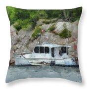 Boat Break Throw Pillow