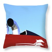 Boat Chimneys Throw Pillow by Eleni Mac Synodinos