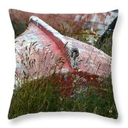 Boat Graveyard Peurto Natales Chile 6 Throw Pillow