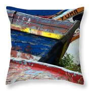 Boat Graveyard Peurto Natales Chile 7 Throw Pillow