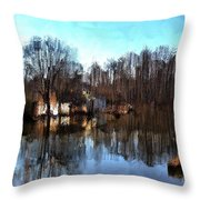Boat House 2 Throw Pillow