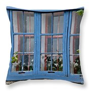 Boat House Windows Throw Pillow