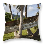 Boat In A Tree Puerto Rico Throw Pillow