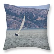 Boat- In Color Throw Pillow