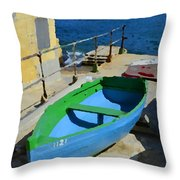 Only A Boat And Everything Else Throw Pillow