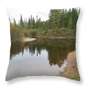 Boat Launch Throw Pillow