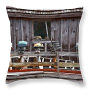 Boat Motors Going Nowhere Throw Pillow